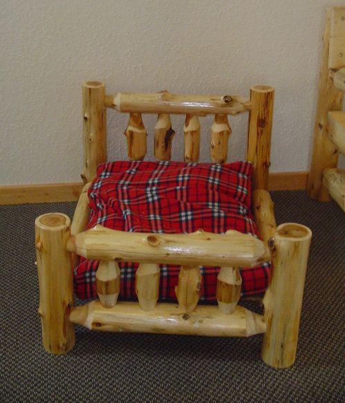 RUSTIC DOG BED  Cedar Log Dog Bed  Pet Bed by BarnWoodFurniture72, $175.00