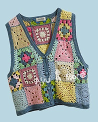 Crochet Granny Square Vest Pattern : 374 best images about granny square clothing on Pinterest ...