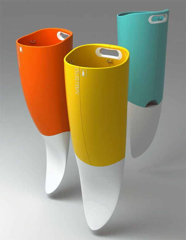 Implantable Garbage Cans for Beach | productdesignplus.com