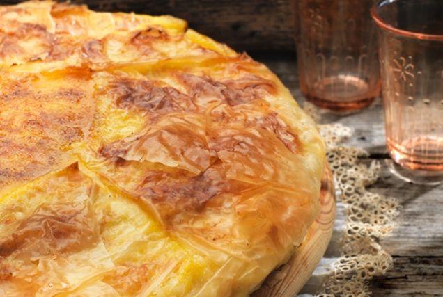 Παραδοσιακή γαλατόπιτα Μάνης