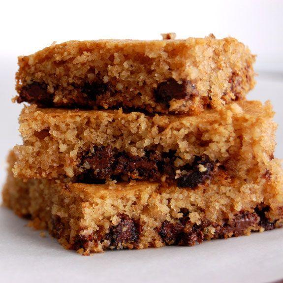 Chocolate Chip Cookie Bars- grain-free & gluten-free.