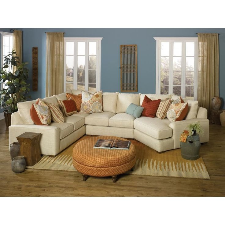 Build Your Own Series) Casual Sectional Sofa With Deco Arms By Smith  Brothers At Miller Brothers Furniture