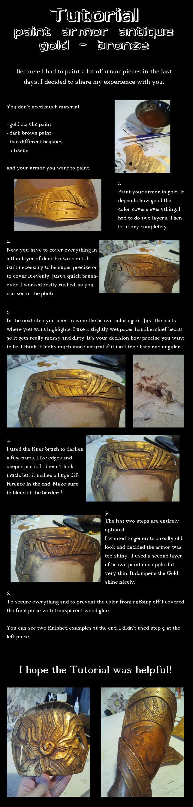 tutorial paint gold/bronze