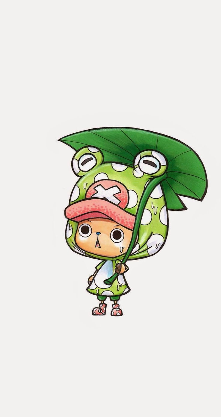 Why so many people/characters like to cosplay as Frog? Anyway, it's cute~ Tap to see more Tony Tony Chopper Cosplay Wallpapers Collection. One Piece manga/anime wallpapers for iPhone 5/5S, iPhone 6 & 6 Plus #anime #manga #cartoon