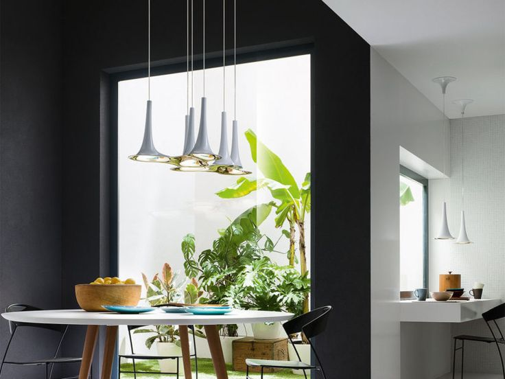 The Nafir Pendants Designed By Karim Rashid Are Available In 5 Colours And Illuminate With LED Dining Room LightingDining