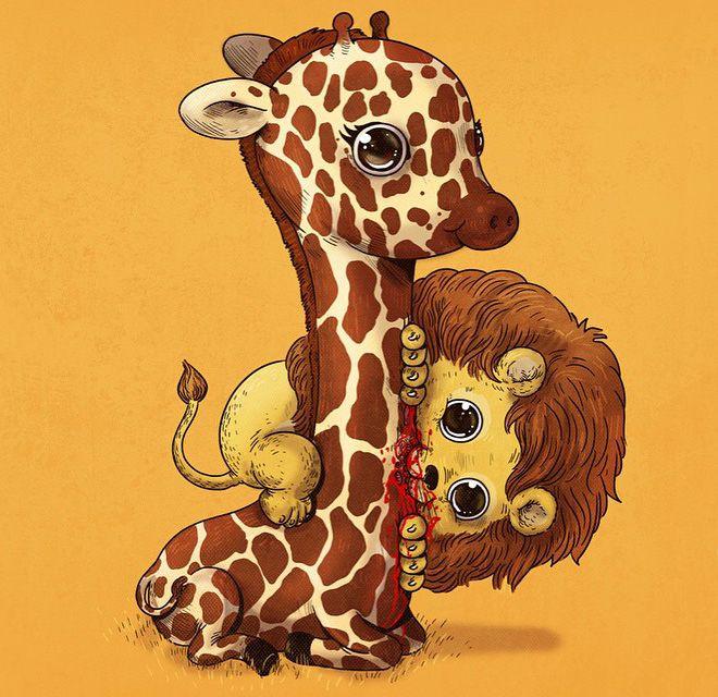 Cute Predators-Jade you would appreciate this! Gross and Cute...