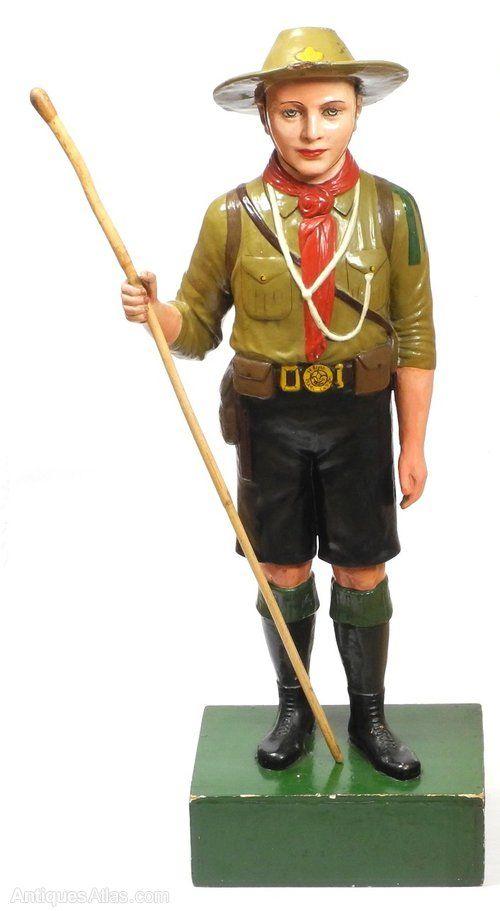 Vintage Boy Scout Shop Display Advertising Figure
