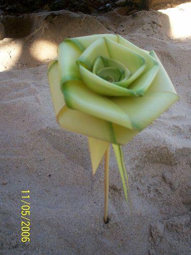 Coconut Palm Frond Weaving | Palm leaf rose