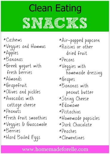 Clean Eating Snacks  I recommend my clients eat every 2-3 hours.  That includes snacks.  Here are a few good ones.  Happy Snacking!   www.GoHerbalife.com/larnold