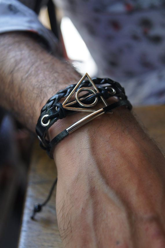 FREE SHIPPING  Deathly sign  Men's Bracelet by ArtofAccessory