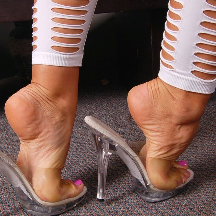 Clesr mules and popped heels