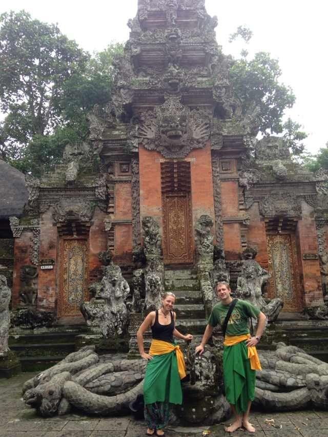Temple in Monkey Forrest, Ubud.