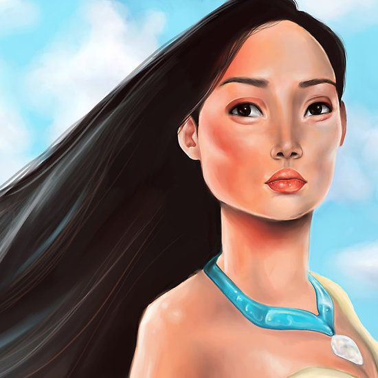 Pocahontas – Disney illustration by Sam Pea
