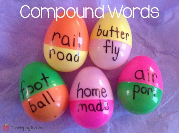 Use plastic eggs to help kids learn new words