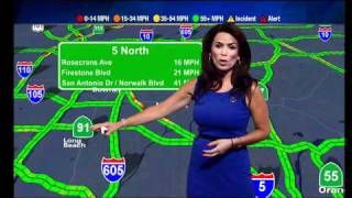 alyssa del valle traffic report kabc | Alysha Del Valle - ABC7 traffic reporter - wearing a sexy blue dress ...