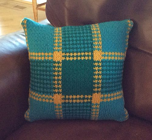 Ravelry: Plaid and Butterfly Pillow pattern by Leslie Gonzalez knitting hom...