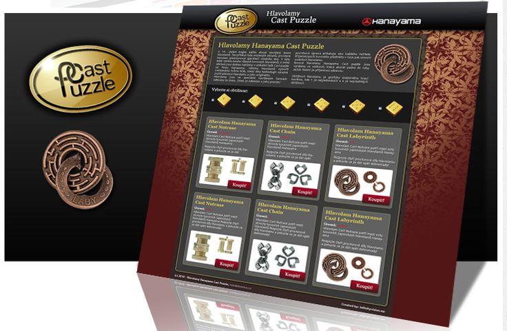 Web design pro Hlavolamy Cast Puzzle