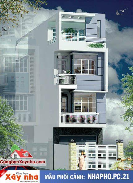Nhà phố đẹp hiện đại http://cungbanxaynha.com/category/mau-can-ban.html