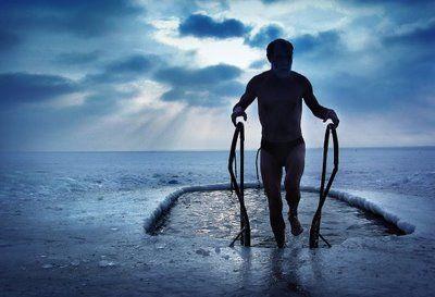 winter swimming in Russia