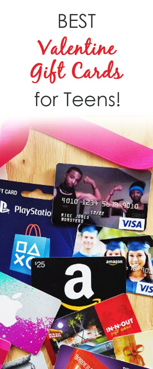 Best Gift Cards for Teens on Valentine's Day. From top clothing stores to gaming gift cards, here's a list of gift cards for teens and older kids to make the perfect Valentine's Day gift.