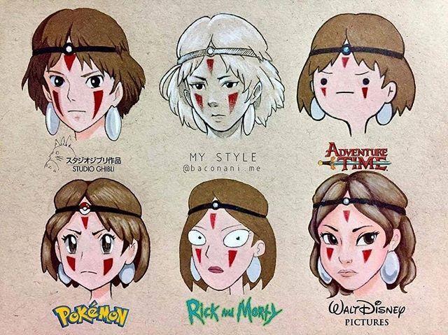 Pin By Far Jung On Studio Ghibi Museum In 2020 Princess Mononoke Art Ghibli Artwork Anime Drawing Styles