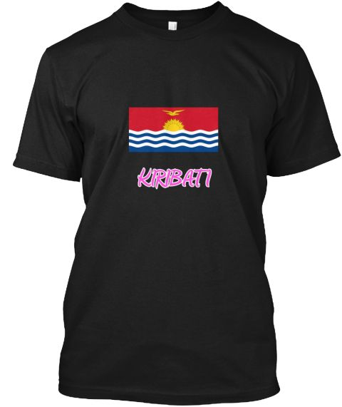 Kiribati Flag Artistic Pink Design Black T-Shirt Front - This is the perfect gift for someone who loves Kiribati. Thank you for visiting my page (Related terms: I Heart Kiribati,Kiribati,Kirghiz,Kiribati Travel,I Love My Country,Kiribati Flag, Kiribati Map,Kiri #Kiribati, #Kiribatishirts...)