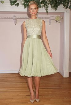 light green lace bridesmaid dress