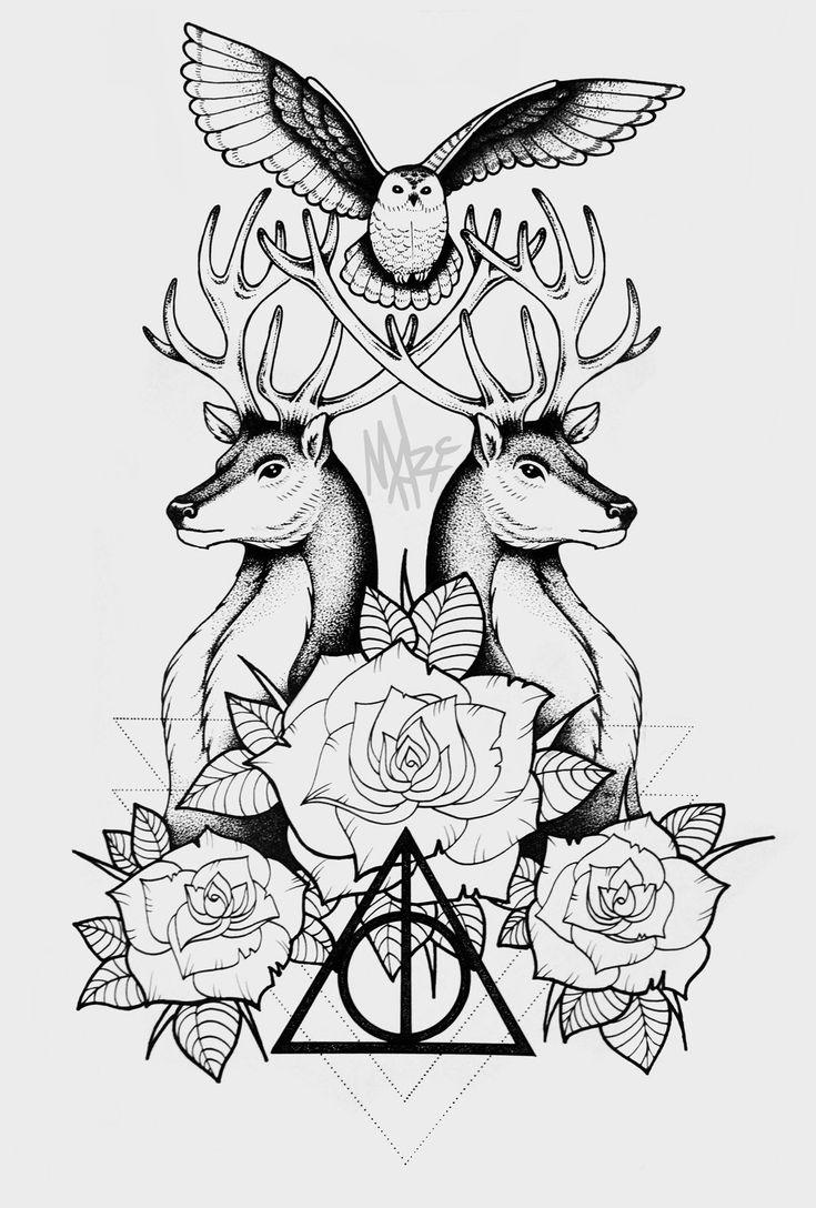 Deathly Hallows Tattoo by MaryMaryLP.deviantart.com on @DeviantArt