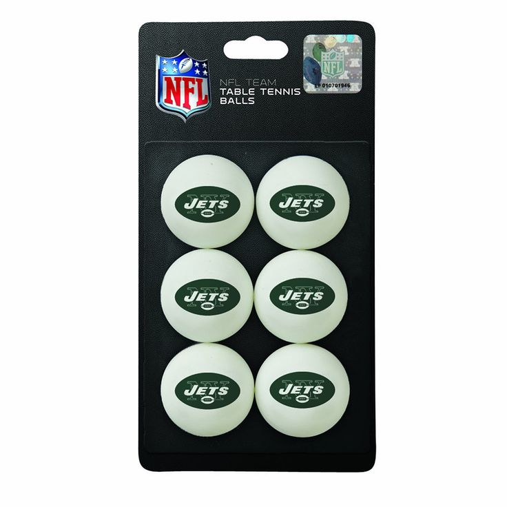 New York Jets NFL Table Tennis Balls (6pc)