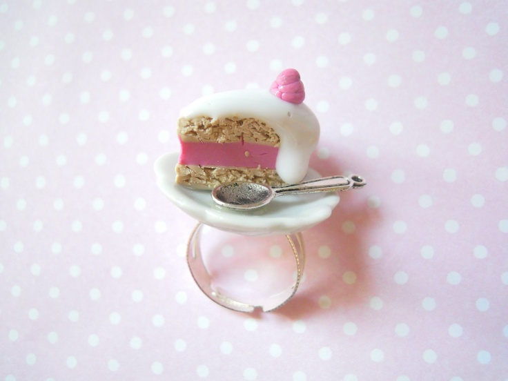 polymer clay ring -