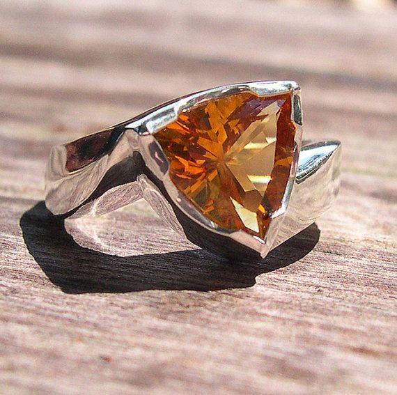 Chris Mueller Jewelry - Trillion-cut citrine  in sterling silver