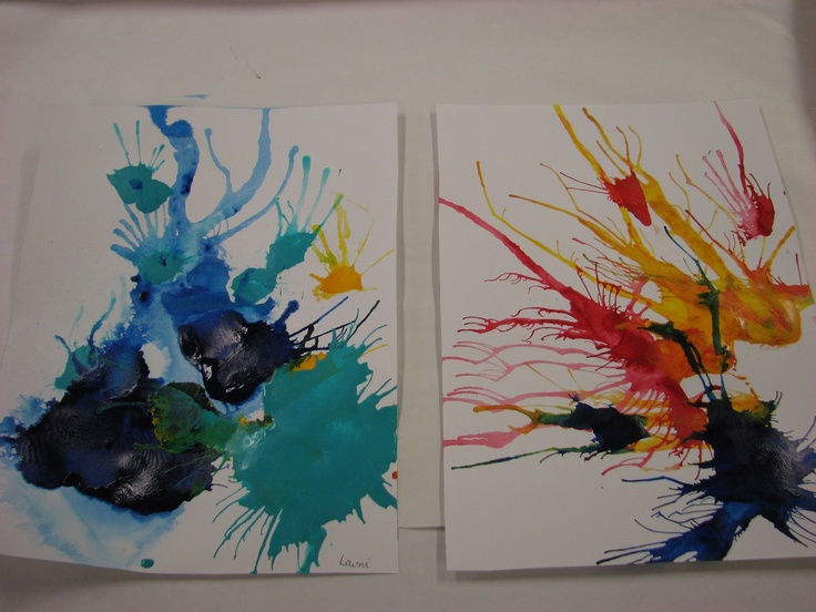 Straw blown paintings. These are soo fun!!: Blowing Paintings, Art Lessons, For Kids, Blowing Art, Blown Paintings Looks, Art Class, Art Ideas, Art Artists, Blown Paintings I