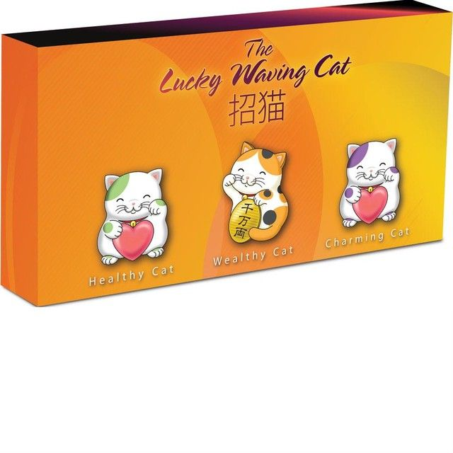 Collectors Lucky Waving Cat Series Three-Coin  Gold Set  lucky waving cat set gold coin  , Perth mint gold coin, gold coin ,gold,   ounce gold coin