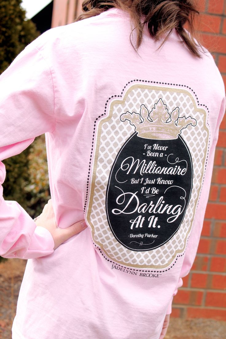 Darling Millionaire Jadelynn Brooke Long Sleeve Shirt - Memento - Personalized Monogrammed Gifts