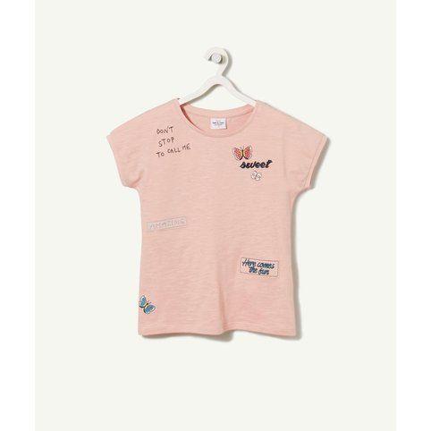 Tee Shirt Avoyage Manches Courtes Fille Tape à l'oeil - 3Suisses