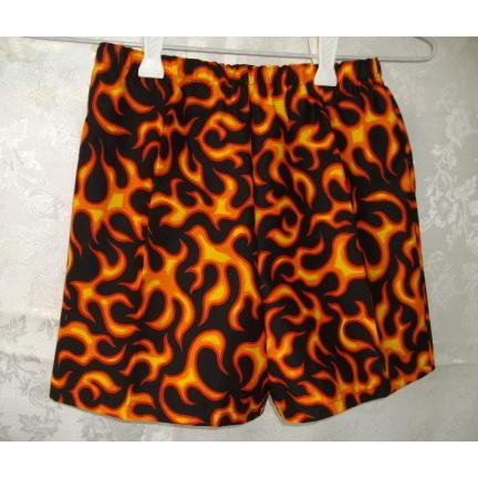 Boys Shorts Flames by saselvenlildesigns on Handmade Australia