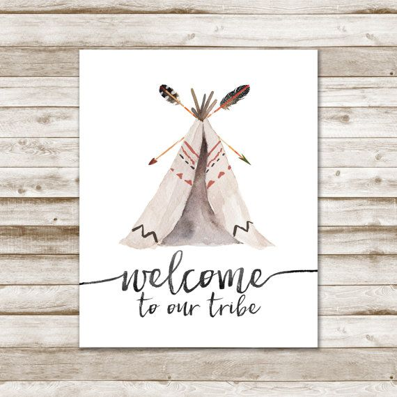Welcome To Our Tribe Print Arrow Print Tribal by mermaiddesignco