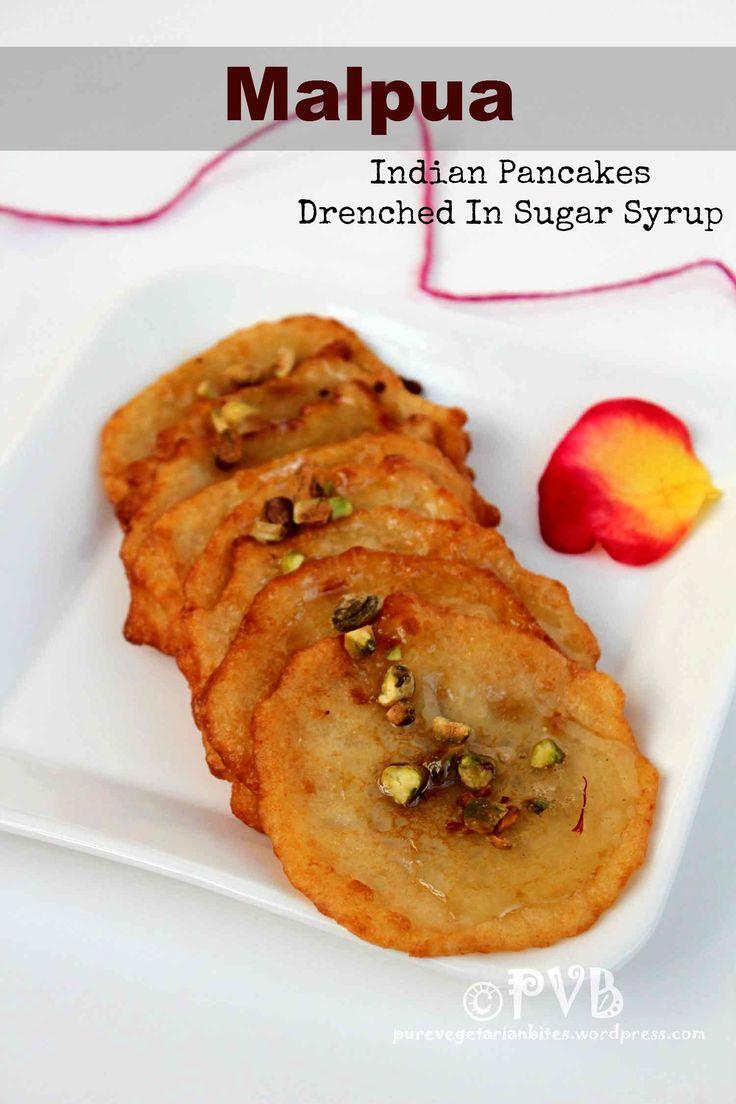 'Malpua' ~ Indian Pancake Drenched in Sugar Syrup