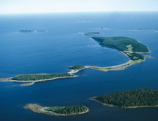Baptiste Island Nova Scotia, Canada --- A long-proven self-sufficient private island, settlers have been surviving on Canada's Baptiste Island for over 150 years now. Furthermore, a one-hectare garden farm can be established at any given time.