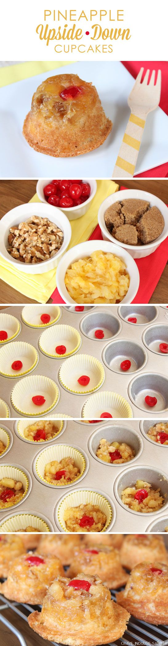 Pineapple Upside-Down Cupcakes Recipe