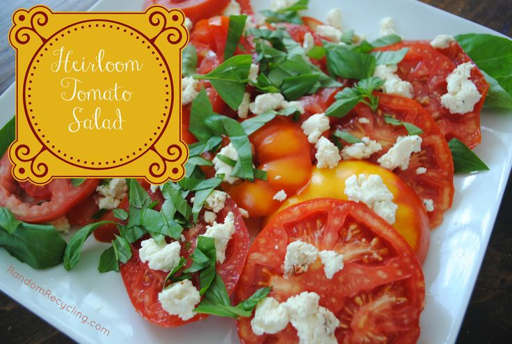 Heirloom Tomato Salad and a Flour, Too Cookbook Giveaway | Random ...