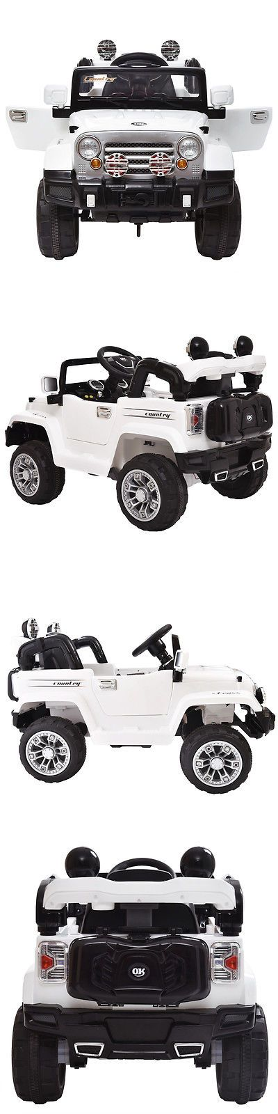 Ride On Toys and Accessories 145944: 12V Mp3 Battery Power Wheels Jeep Car Truck Remote Kids Ride W Led Lights White -> BUY IT NOW ONLY: $165.99 on eBay!