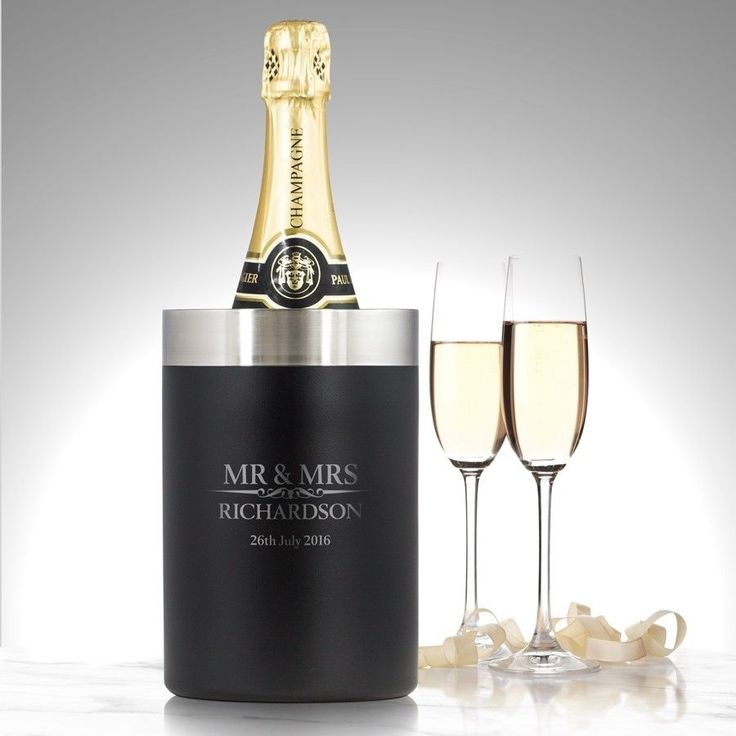 Perfect present for a loved ones Engagement, Wedding or House Warming  Heritage Personalised Luxury Bottle Wine Cooler Wedding Christmas Gift    eBay