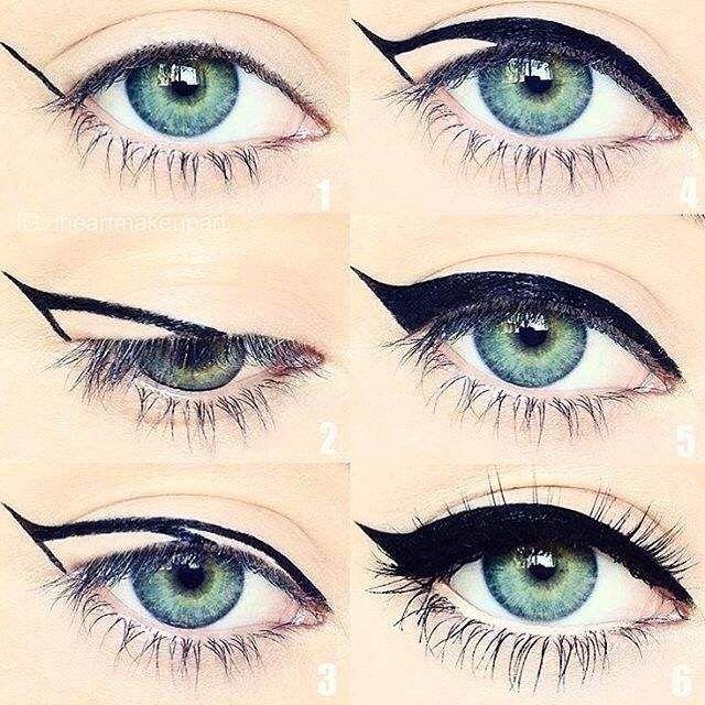 Eyeliner çekmek artık çok kolay :) nasıl mı resme bak ve dene
