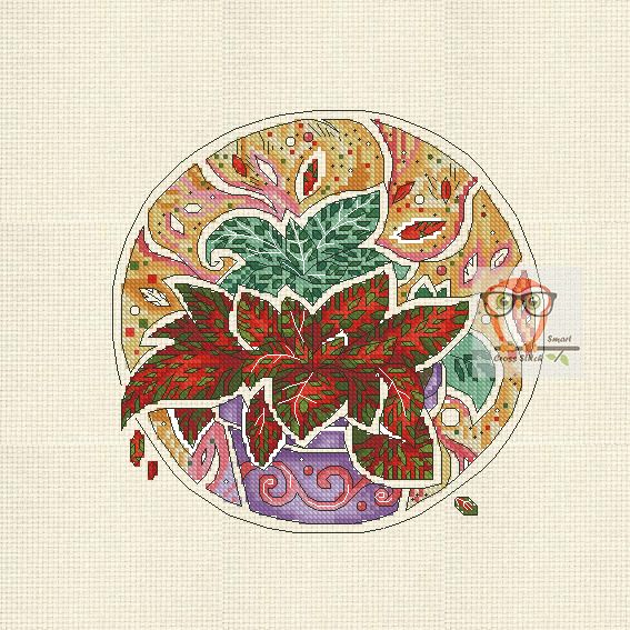 Phittonia Botanica If you are looking for a unique floral project then try your stitchy hand at our botanica series. Fairy cross stitch flower patterns will make you happy. A new embroidery project is a tulip cross stitch.  #flower #bright #crossstitch #round #embroidery #modern #crossstitching #floral #pdf #pattern #SmartCrossStitch