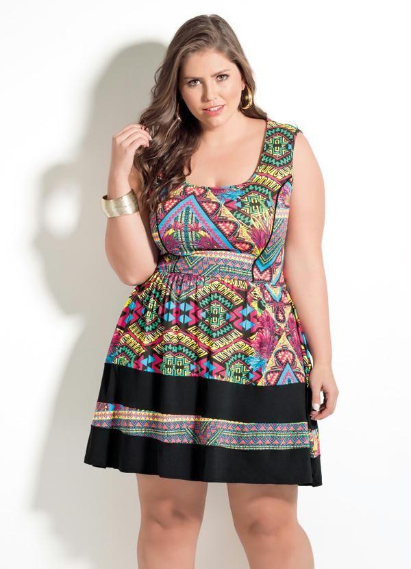 d7cbe71ef Vestido Étnico Quintess sem Mangas Plus Size - Posthaus | modelos ...