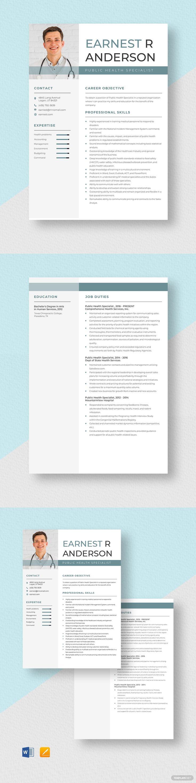 public health specialist resume template ad  ad