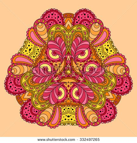 stock-vector-orange-pink-mandala-vector-illustration-332497265.jpg (450×470)