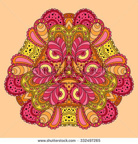 stock-vector-orange-pink-mandala-vector-illustration-332497265.jpg (450×470)