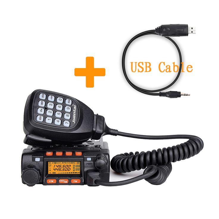 ( radio+program cable+software) originele juentai ce goedgekeurd jt-6188 vhf uhf& 25w 200ch dtmf mini dual band mobiele ham radio(China (Mainland))